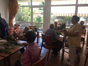 atelier de jardinage en maison de retraite